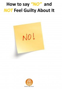 """How liberating to be able to say """"NO!"""" when you want to"""