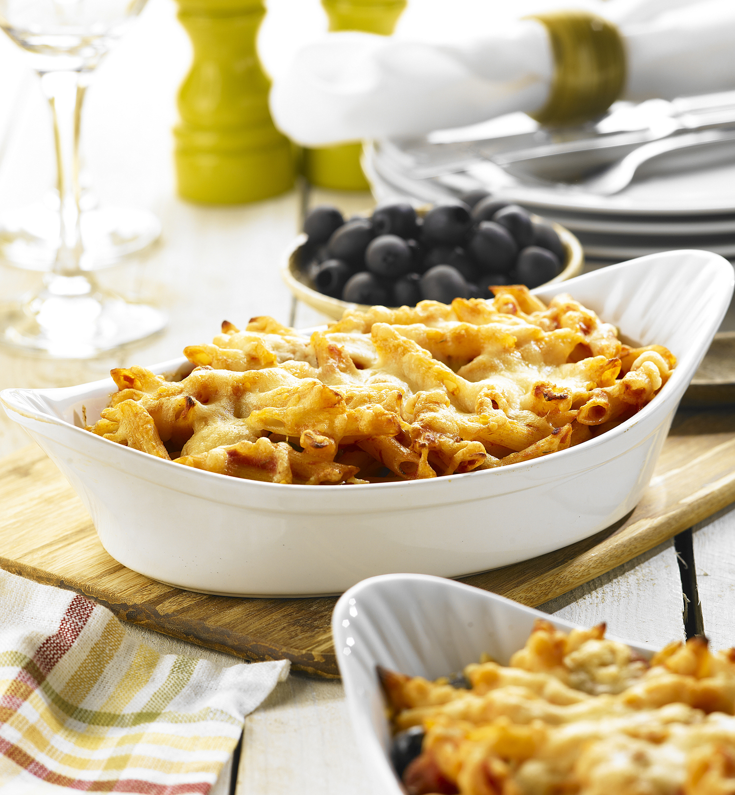 chorizo-and-olive-pasta-bake